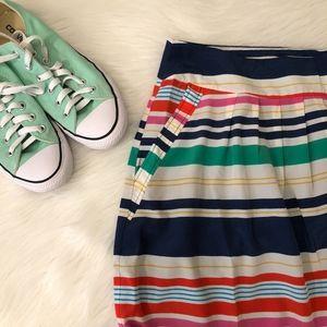 ROMY Striped A-Line Pocket Skirt, Size M